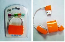 Sample 19 Orange USB A male & I-PHONE